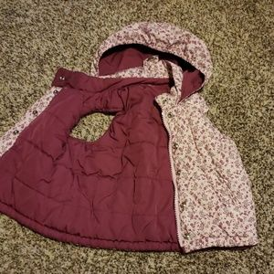 3/$12 BabyGap pink flower vest